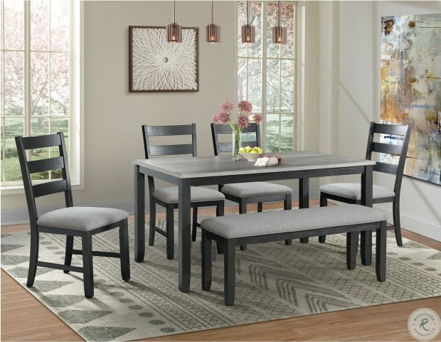 Kona Gray And Black 6 Piece Dining Room Set From Elements Furniture Coleman Furniture