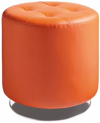Domani Orange Small Swivel Ottoman