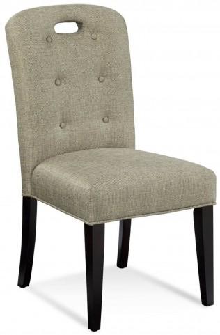 Bartlett Linen Tweed Slotback Parson Chair