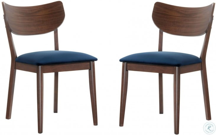 Rosie Navy Blue Side Chair Set Of 2