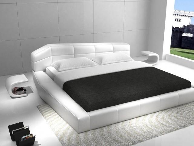 Dream White King Platform Bed