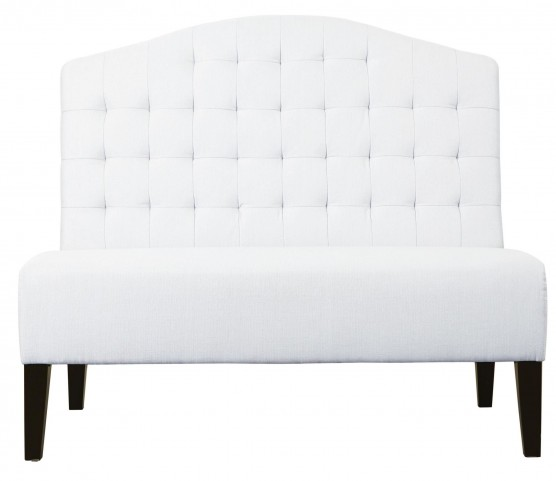 Tuxedo Ivory Banquette Bench