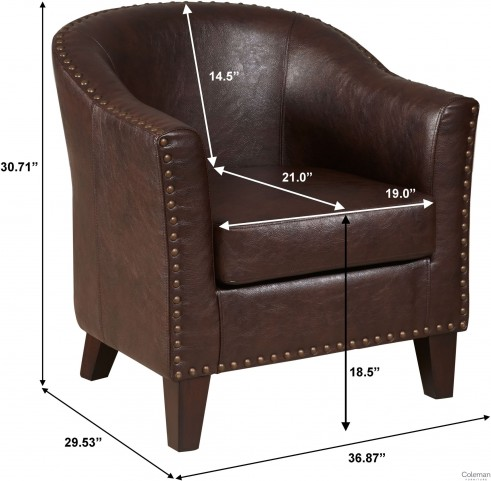 Traditional Warm Brown Upholstered Accent Chair