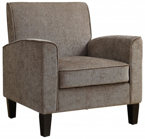 Gray Upholstered Accent Chair