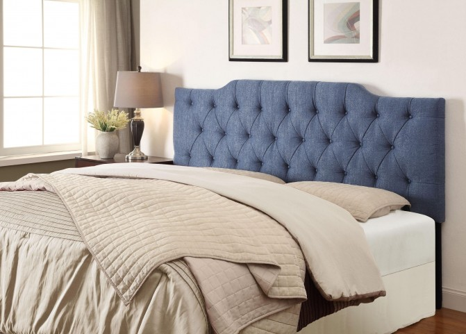 King/Cal. King Tuxedo Denim Upholstered Headboard
