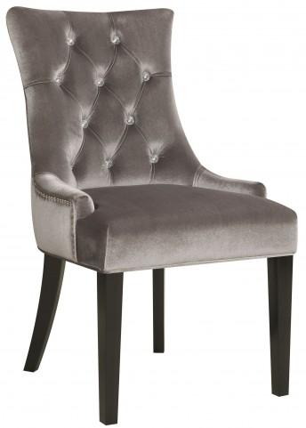 Chrome Velvet Dining Chair