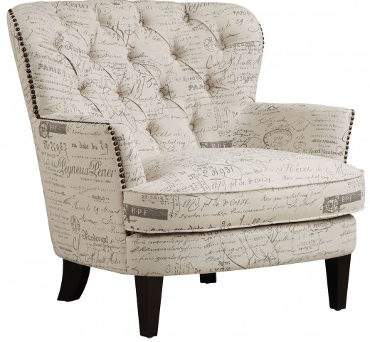 Paris Script Upholstered Arm Chair
