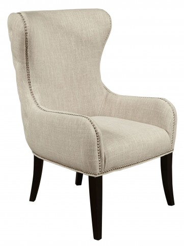 Seraphine Mink Upholstered Arm Chair