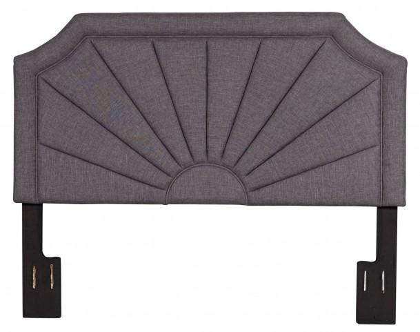 Hayden Silver Queen Upholstered Headboard
