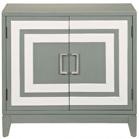Modern Painted Gray Door chest