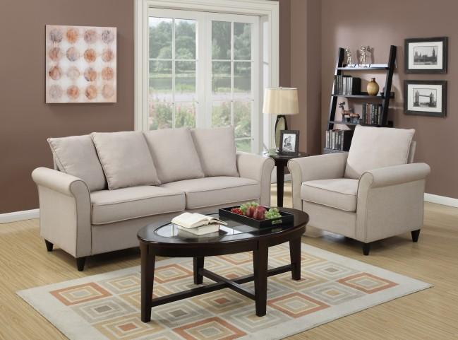 Rollarm Hayden Beige Living Room Set