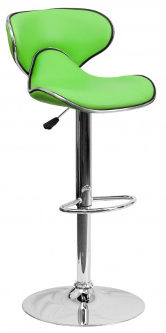 Cozy Green Adjustable Height Bar Stool
