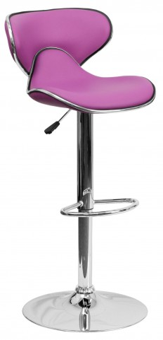 Cozy Purple Adjustable Height Bar Stool