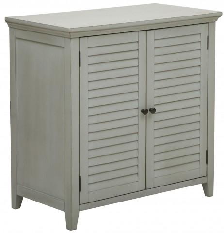 Cool Grey 2 Louvered Door Bathroom Storage