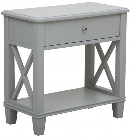 Light Gray Shelf Side Table