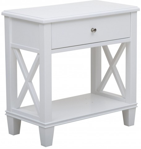 Clean White Shelf Side Table