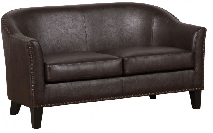 Brown Upholstered Banquette