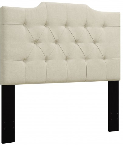 Beige King/Cal. King Upholstered Panel Headboard
