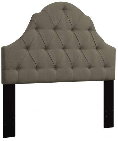 Taupe King/Cal. King Button Tufted Upholstered Headboard