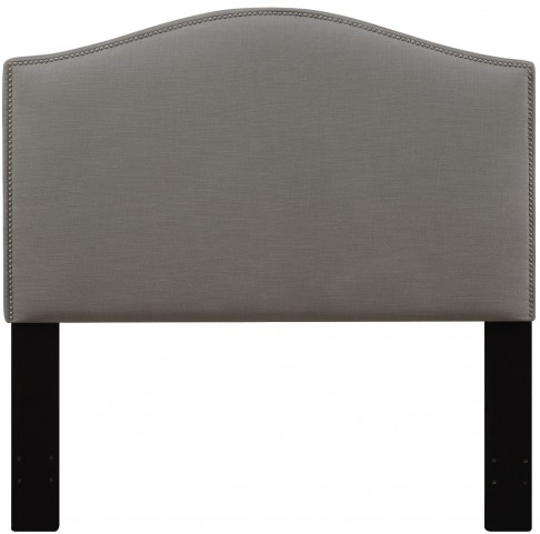 Ash Full/Queen Nailhead Upholstered Headboard