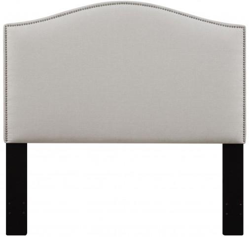 Linen Full/Queen Nailhead Upholstered Headboard