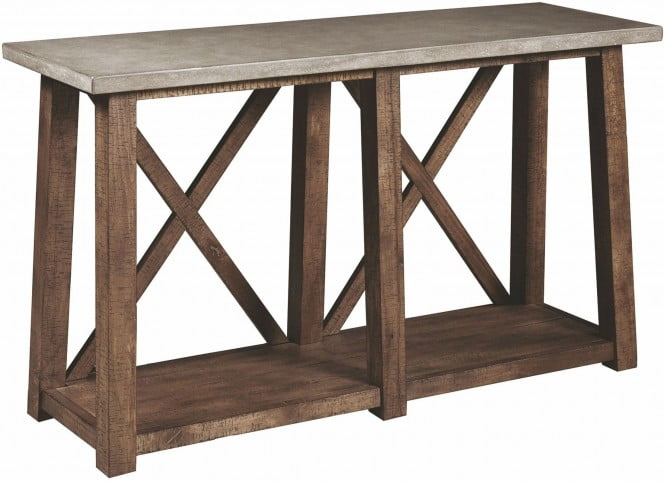 813d1a1a80b4a Distressed Brown Sofa Table from Pulaski