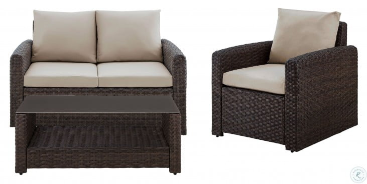 Durable Resin Wicker Modern Weave Outdoor Conversation Set