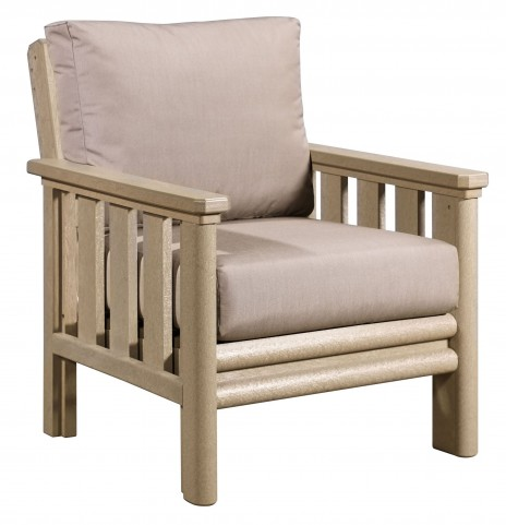 Stratford Beige Chair With Beige Sunbrella Cushions