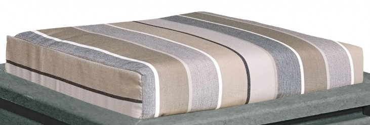Stratford Milano Charcoal Small Ottoman Cushion