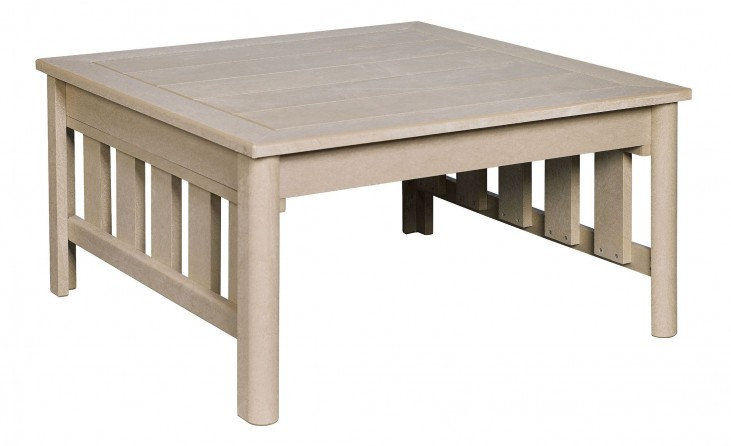 Stratford Beige Square Cocktail Table