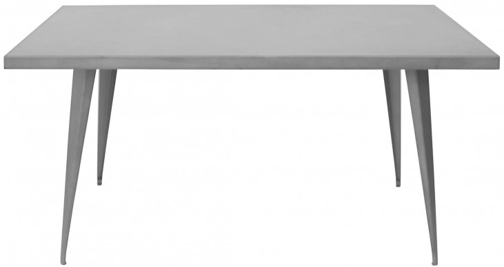 Austin Rectangular Matte Grey Dining Table