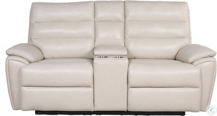 Duval Ivory Power Reclining Console Loveseat