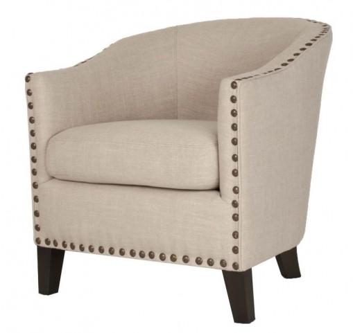 Dutch Espresso Birch Fabric Club Chair