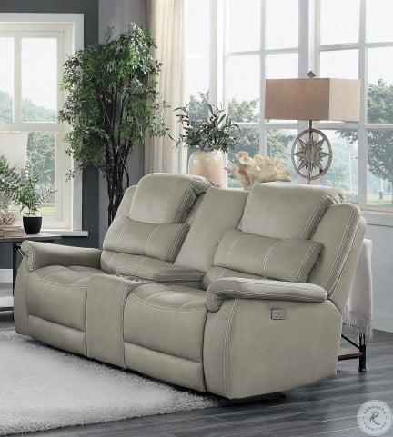 Amazing Shola Gray Double Glider Reclining Loveseat With Center Console Inzonedesignstudio Interior Chair Design Inzonedesignstudiocom