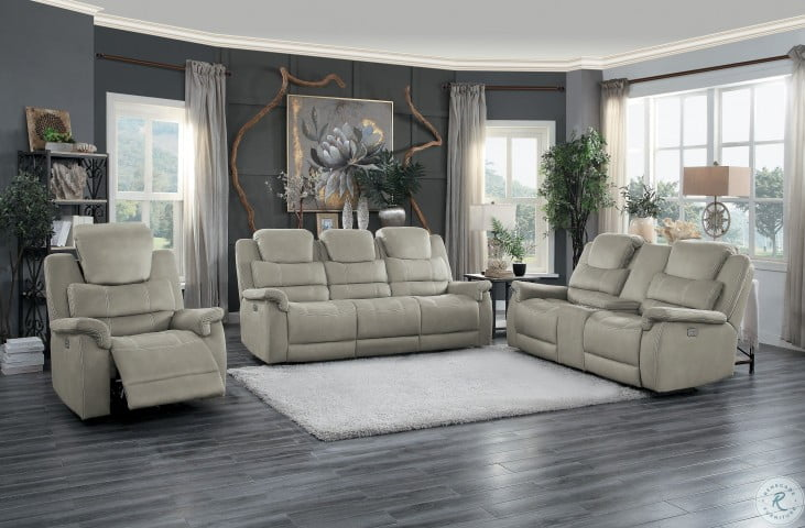 Swell Shola Gray Double Glider Reclining Loveseat With Center Console Inzonedesignstudio Interior Chair Design Inzonedesignstudiocom