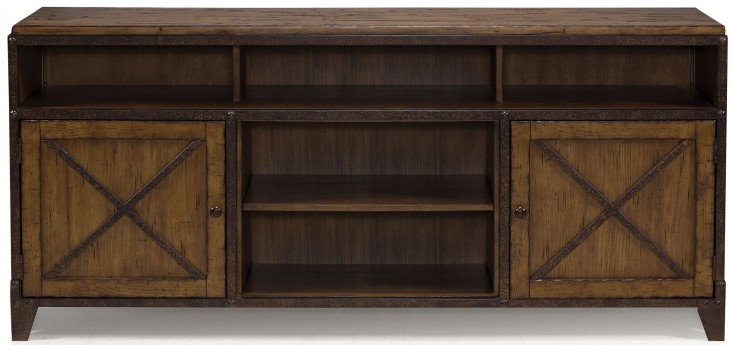 Pinebrook Distressed Natural Pine Wood Console