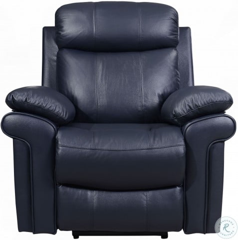 Peachy Shae Joplin Blue Leather Power Reclining Living Room Set Theyellowbook Wood Chair Design Ideas Theyellowbookinfo