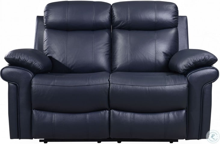 Phenomenal Shae Joplin Blue Leather Power Reclining Living Room Set Alphanode Cool Chair Designs And Ideas Alphanodeonline