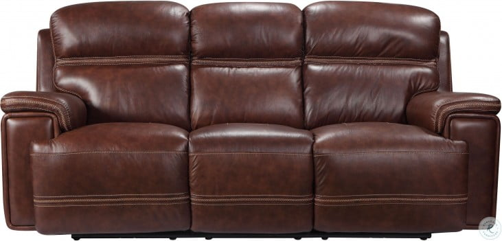 Fabulous Shae Fresno Brown Leather Reclining Sofa Pabps2019 Chair Design Images Pabps2019Com