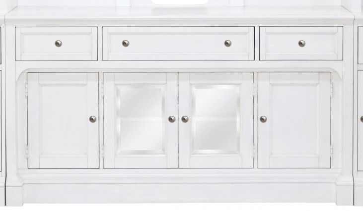Laurel Garden Soft White Wood Console