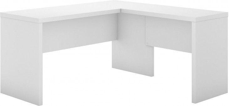 Looks Great With Image Of Item Echo Pure White L Shaped Desk
