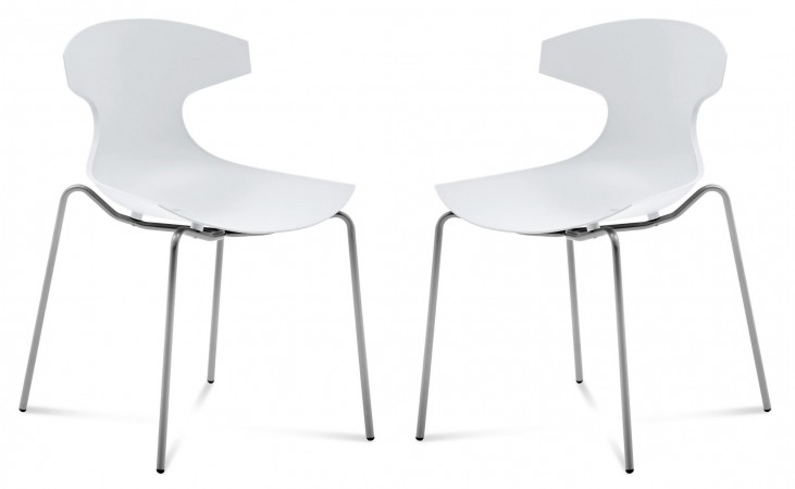Echo White Stacking Chair Set of 2