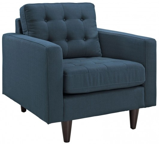 Empress Azure Upholstered Armchair