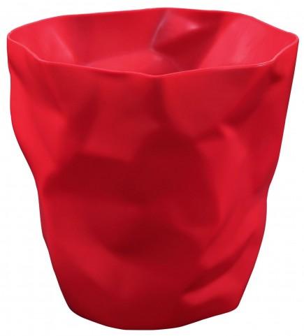 Lava Red Trash Bin