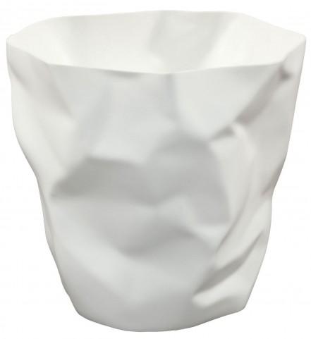 Lava White Trash Bin