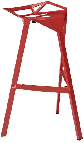 Launch Red Stacking Bar Stool