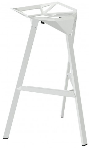 Launch White Stacking Bar Stool
