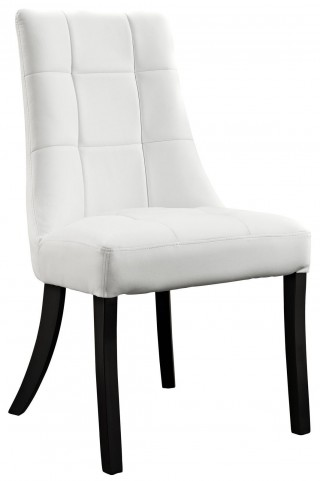 Noblesse White Dining Vinyl Side Chair