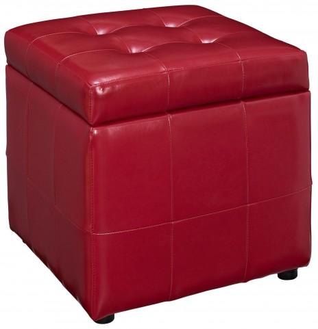 Volt Storage Red Ottoman