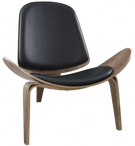 Arch Walnut and Black Lounge Chair
